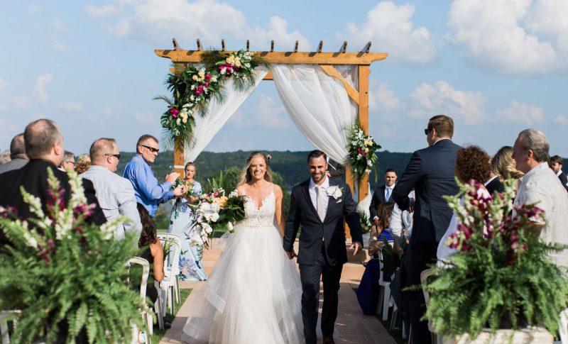 Outdoor wedding ceremony at Geneva National Resort & Club