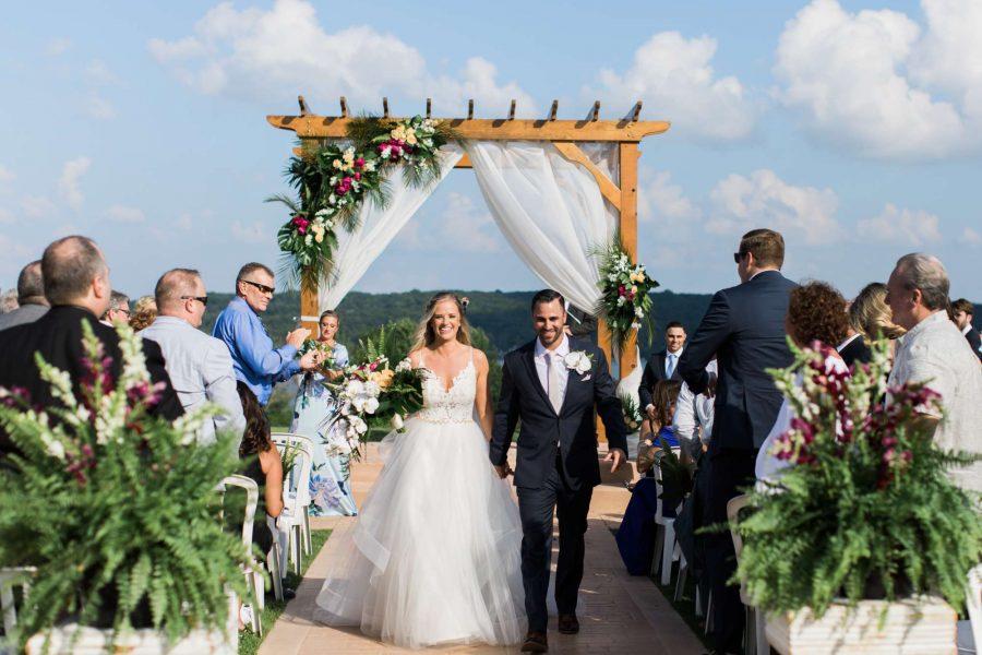 Wedding ceremony at Geneva National Resort & Club