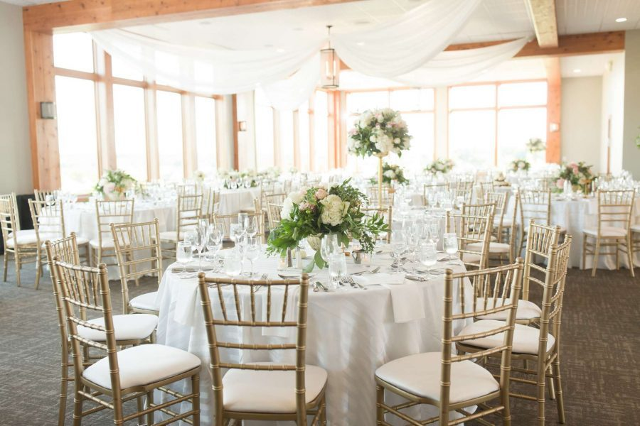 Elegant wedding reception at Geneva National Resort & Club