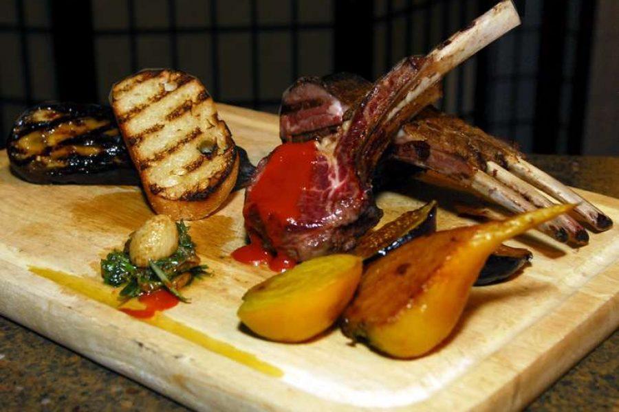 Chef Feker prepared Croatian Grilled Lamb Platter