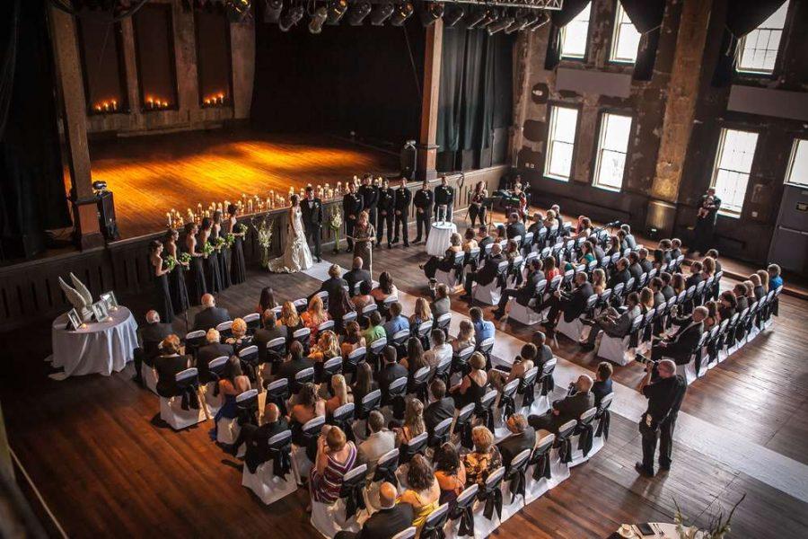Wedding Ceremony at Turner Hall Ballroom in Milwaukee, WI