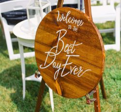 Pretty Pretend Wedding Show Welcome Sign