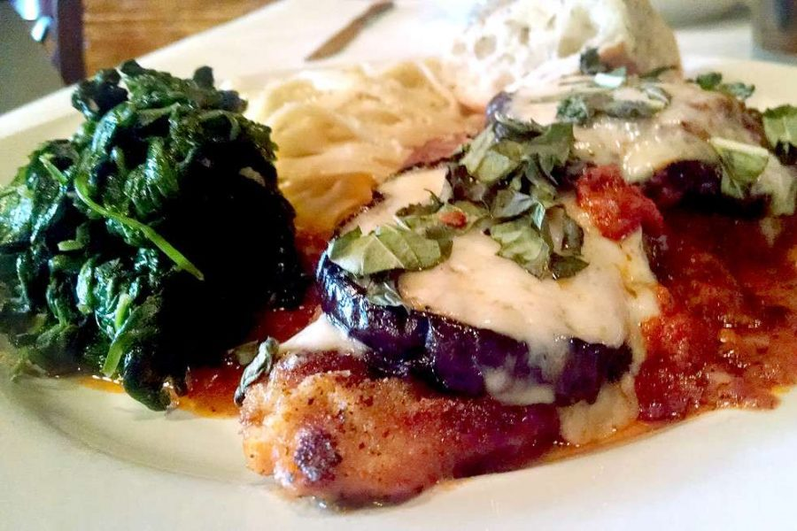 Plated turkey parmigiana