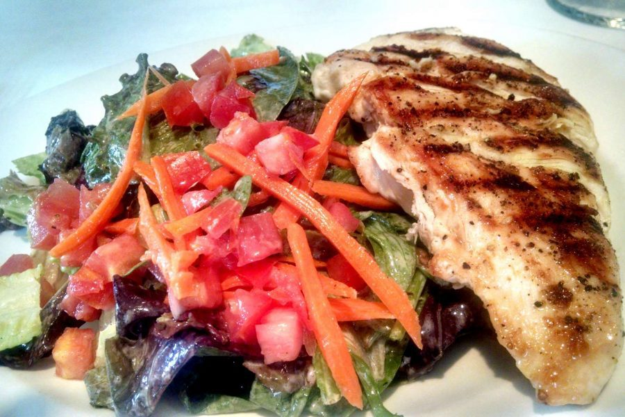 Insalata Mista with grilled chicken at il mito east lunch deliveries Milwaukee WI