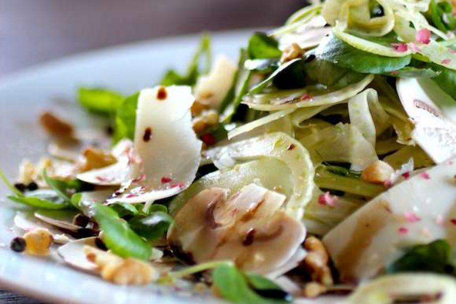 Mushroom and fennel salad by chef Feker