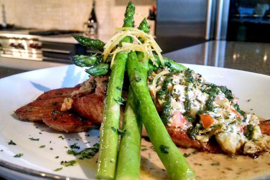 Spring salmon artichoke salsa- Chef Feker Catering