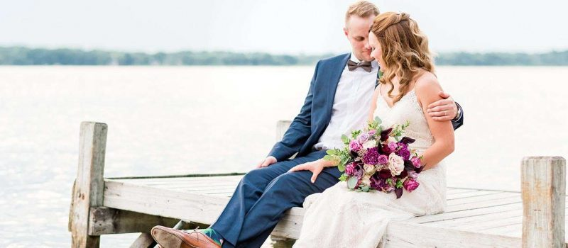 Anna and Chad marry at Seven Seas on Lake Nagawicka in Delafield WI
