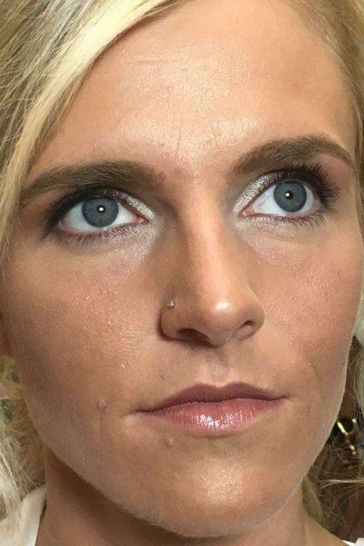 Bridal make-up close-up