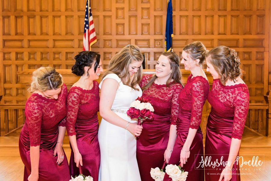 Bride and her bridesmaids share a laugh- Allysha Noelle Photography