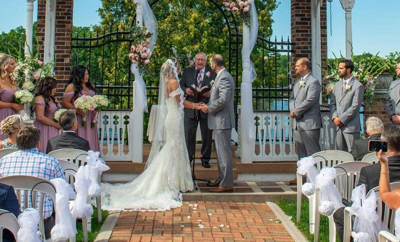 Karissa and Jeremy marry at the Golden Mast in Okauchee Wisconsin