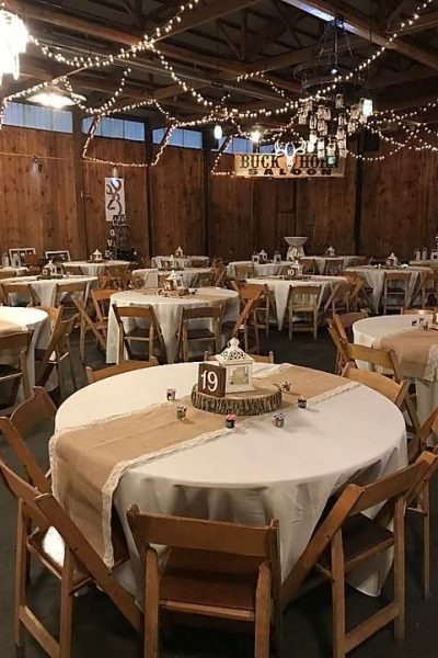 Rustic wedding reception at Kettle Moraine Ranch