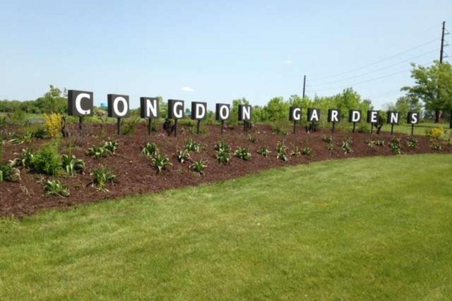Congdon Gardens Sign