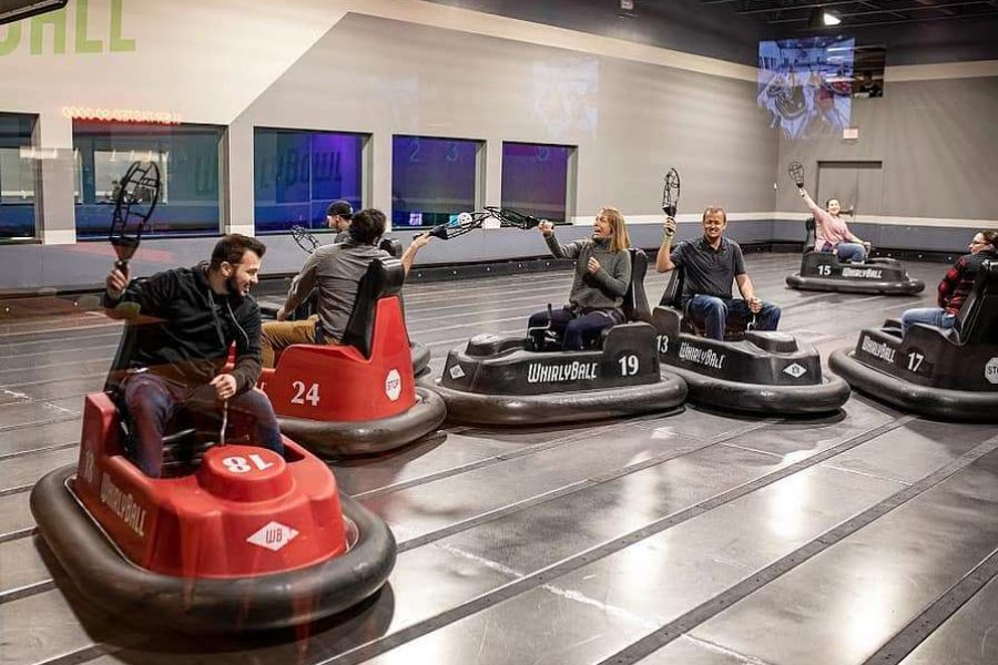 A game of whirly ball