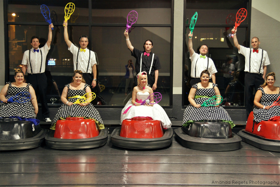 Wedding party at WhirlyBall