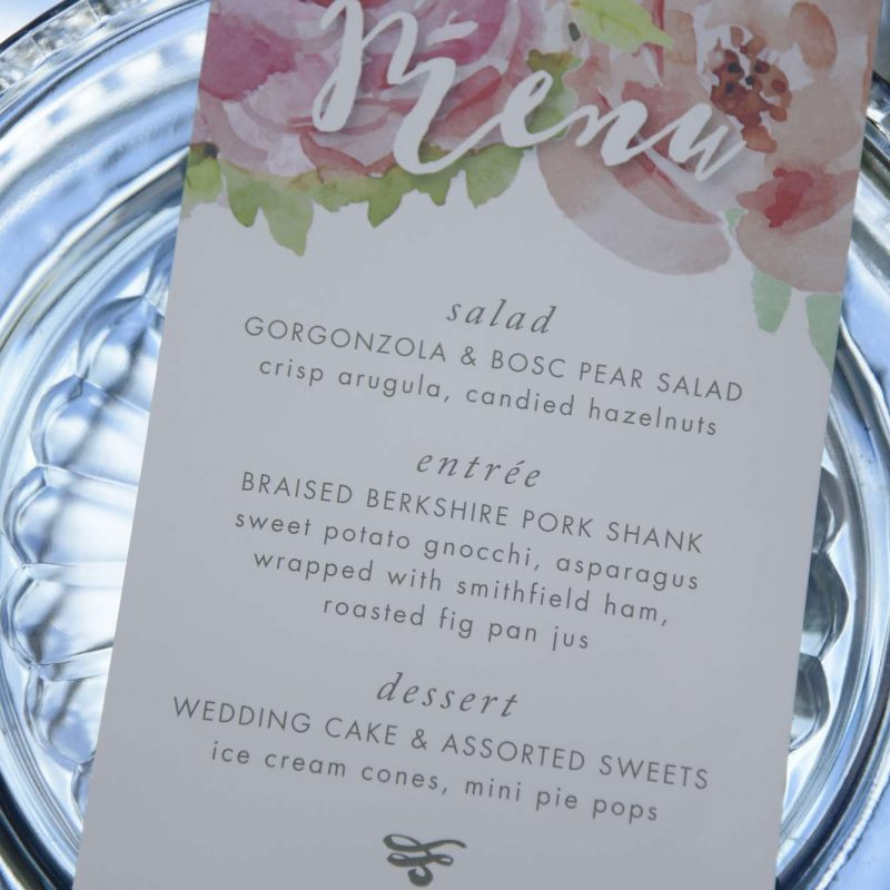 paperwhites-wedding-menu-card
