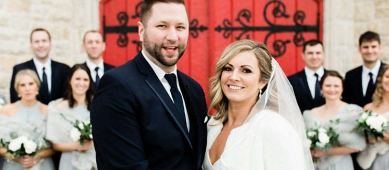 Jess and Matt marry at the Delafield Hotel in Delafield WI