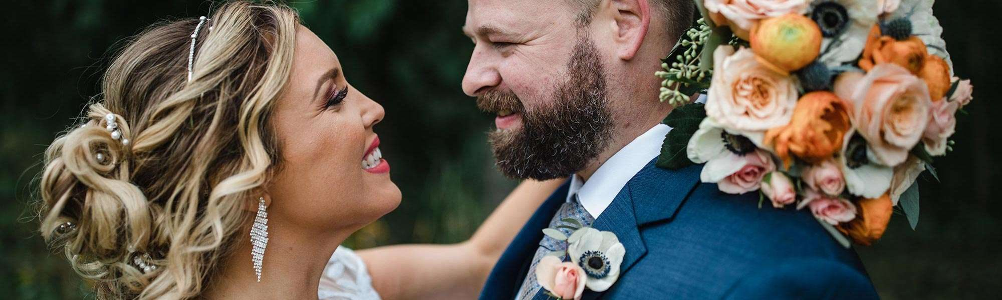Katie and Jesse marry at Terrace 167 in Richfield WI