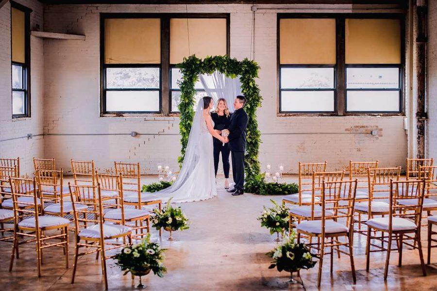 Wedding ceremony at the Curio Loft