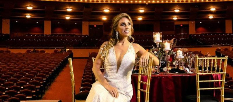 Beautiful bride at the Miller High Life Theater- styled by Ambrosia Events
