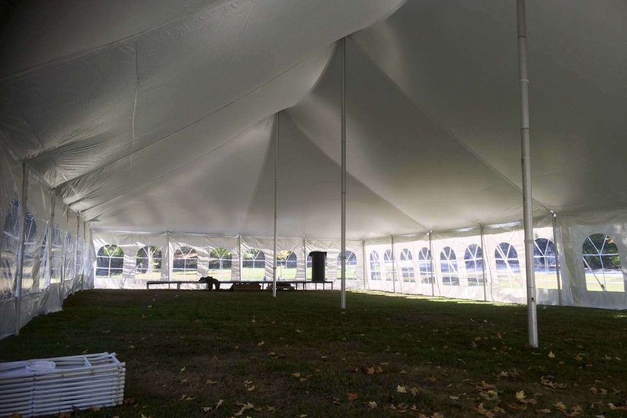 Large tent fro a wedding reception