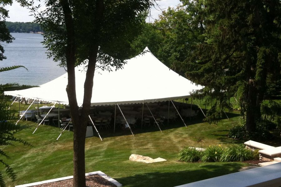White tent from Area Rental & Sales