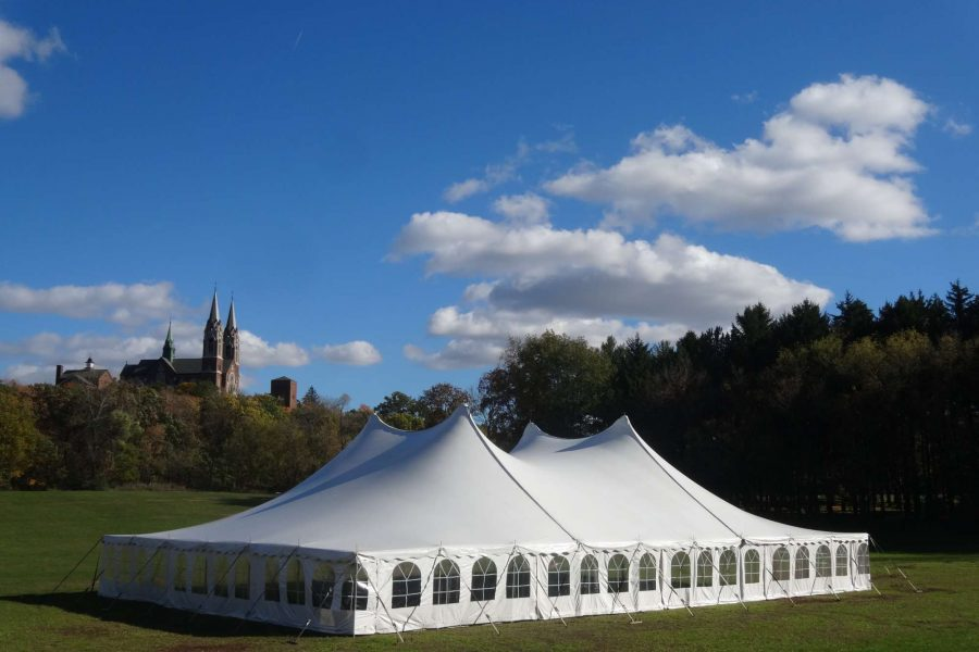 outside image of white tent