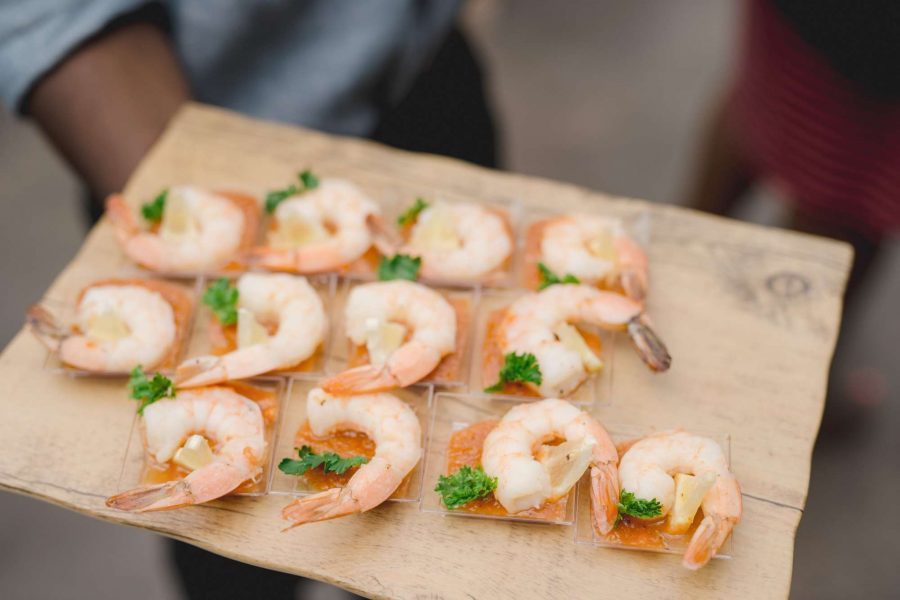 Shrimp appetizers by F Street Catering & Events