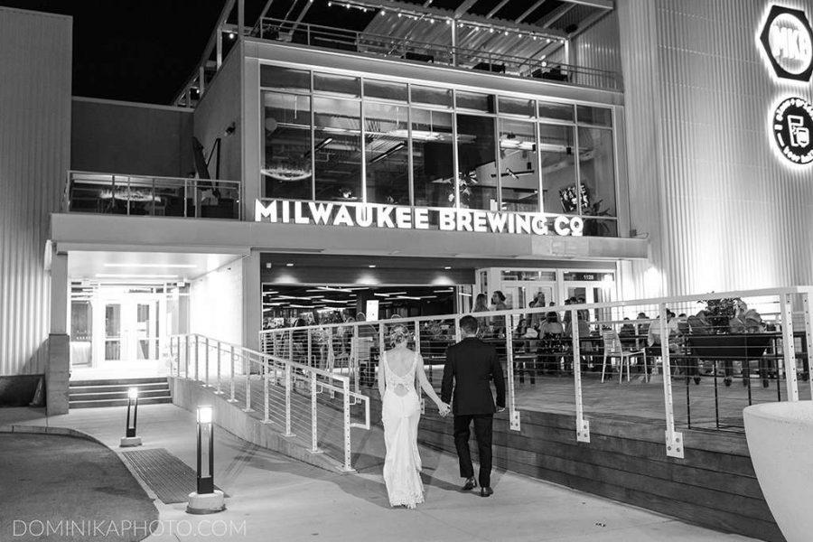 Entering wedding reception