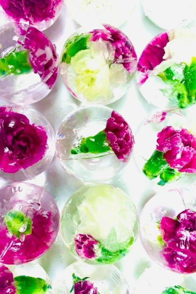 craft ice floral spheres by LushICE