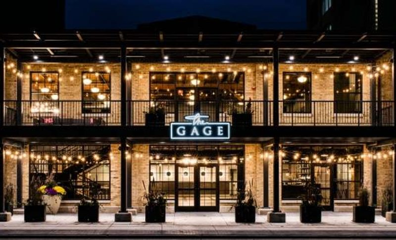 The exterior of the Gage, a wedding and event venue in West Allis, WI