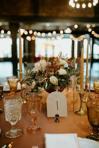 Elegant tablescape at the Gage