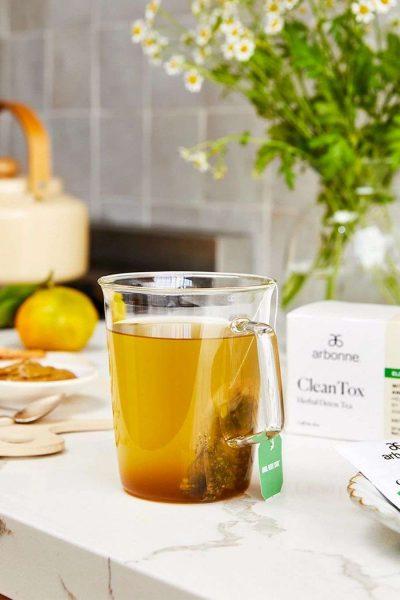 Arbonne Clean-Tox tea steeping