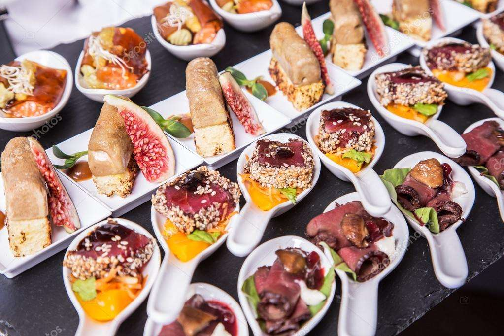 individual appetizers for wedding