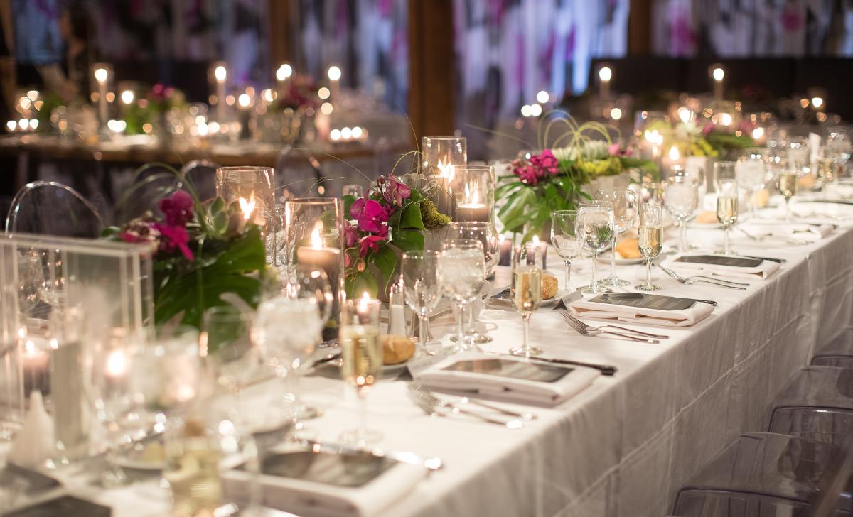 Elegant table at Pritzlaff wedding