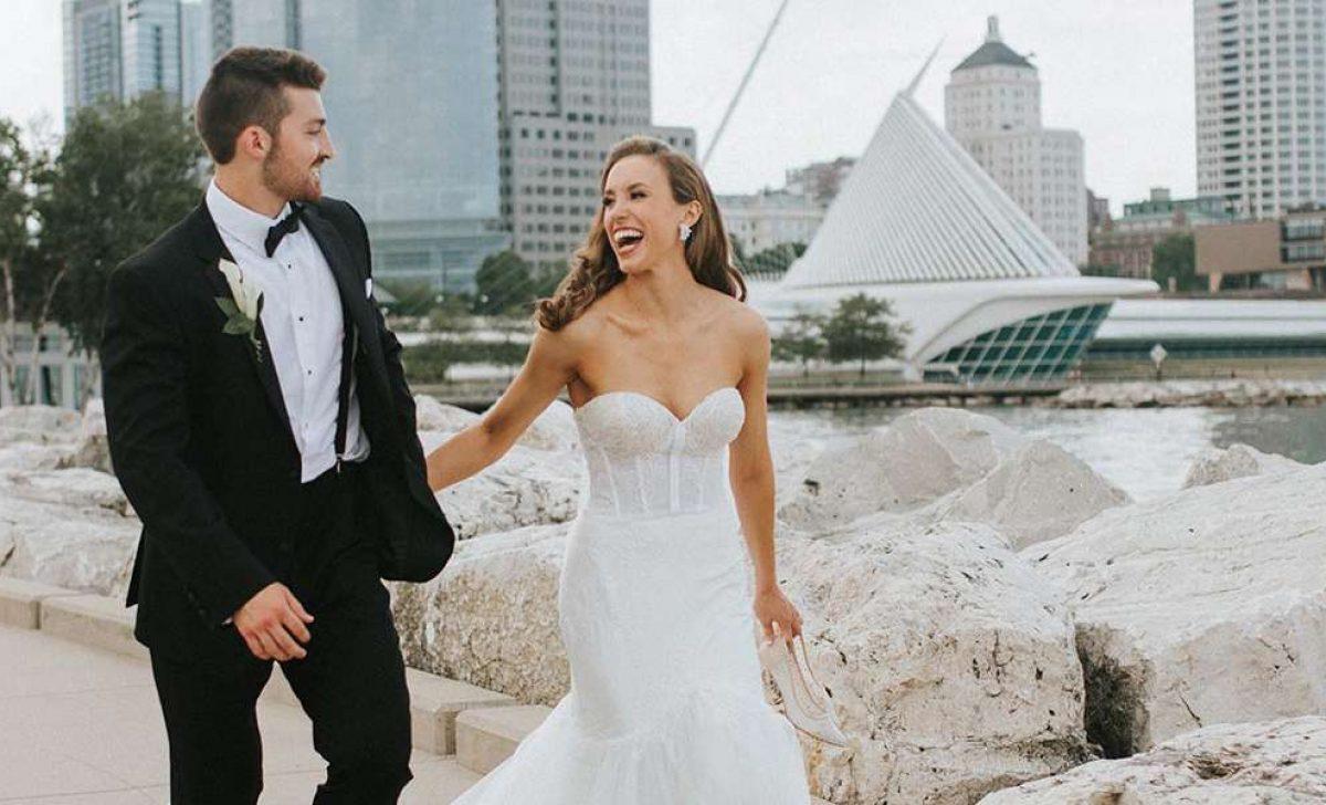 Caroline and Sam at Milwaukee's lakefront