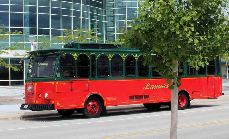Exterior of a Lamers Trolley